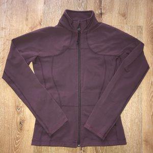 Size 4 (no dot) lululemon maroon in stride jacket